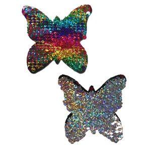 Pastease Rainbow Flip Sequin Butterfly Pasties